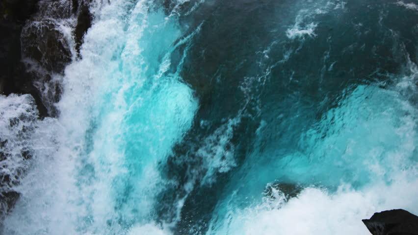 Blue Waterfall ICELAND (RED Cinema) | Shutterstock HD Video #1014411272
