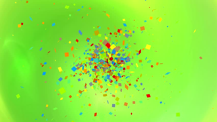 dance of colored confetti on the screen #1014419462