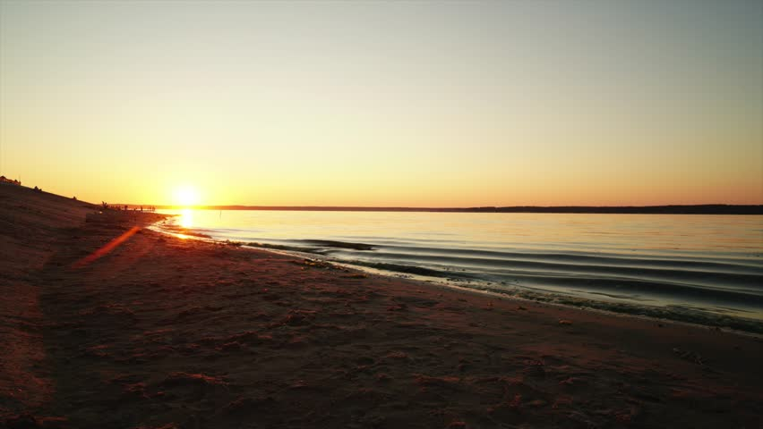 Sunset over the river | Shutterstock HD Video #1014468554