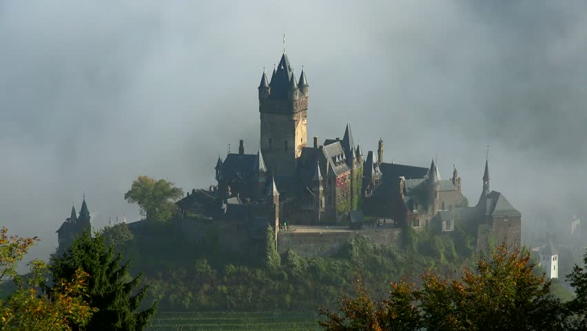 Cochem Imperial Castle, Cochem, Moselle River, Rhineland-Palatinate, Germany, Europe   Shutterstock HD Video #1014490814
