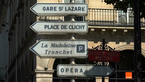 Traffic signs, Paris, France, Europe