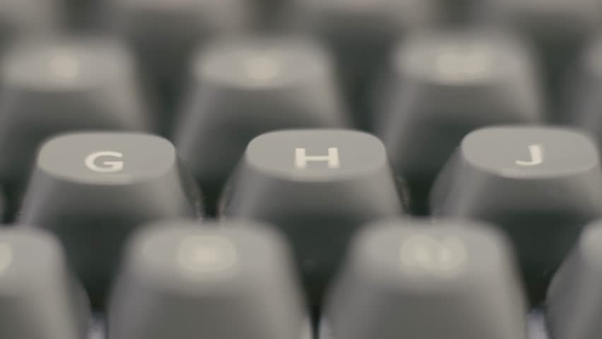 Camera Moves On A Old Vintage Manual Typewriter Keyboard | Shutterstock HD Video #1014526442