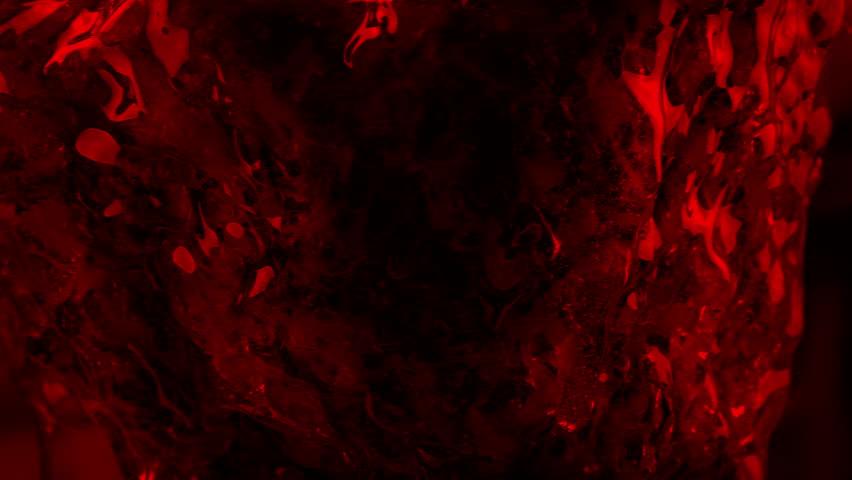 Passing Slimy Alien Organism In Red Light