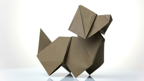 Origami wet fold dreaming dog (diagram) | Giang Dinh | Origami cat ... | 270x480