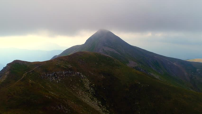 Aerial video of Mount Cusna: ridge of the Tuscan Emilian Apennines - Reggio Emilia, Italy | Shutterstock HD Video #1014601808