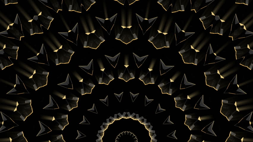 This awesome hypnotizing VJ loop, combines  rhythmical transformation of the golden shiny shapes and unusual futuristic design.  Great choise for techno raves and stage performances    Shutterstock HD Video #1014618506