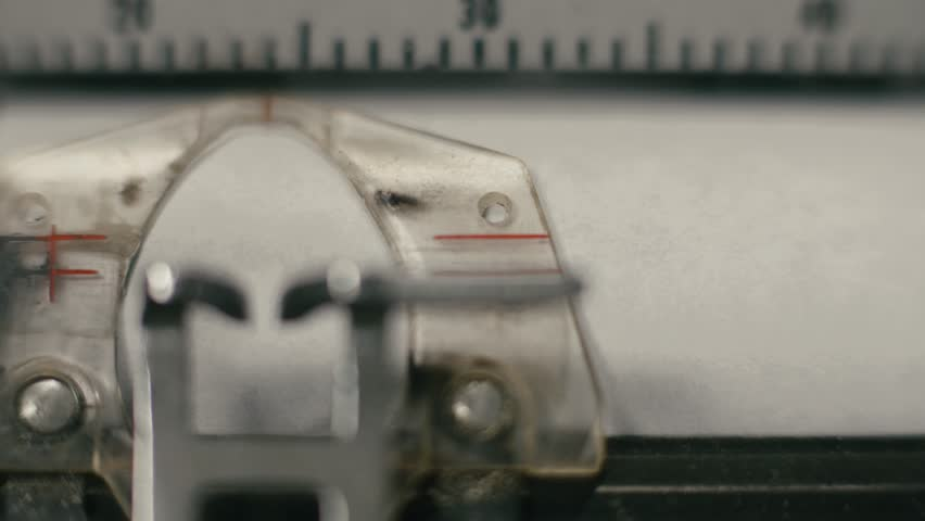 Typewriter Close Up Head Printing Paper | Shutterstock HD Video #1014623714