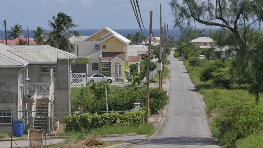 Road leading to Bottom Bay, St Philip, Barbados, West Indies, Caribbean