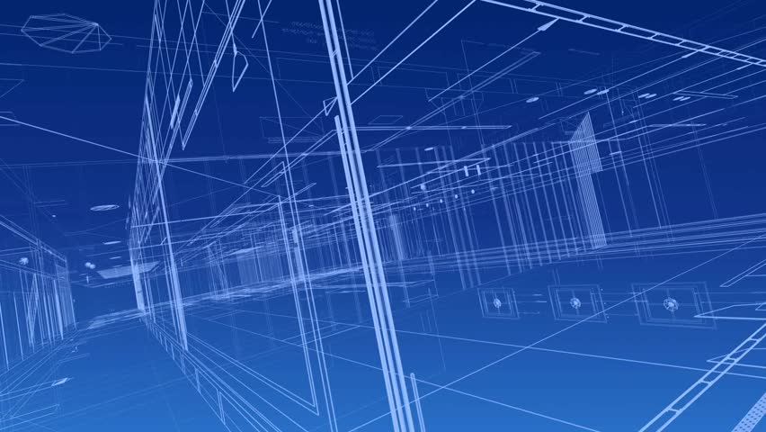 Architecture plan blue background Royalty-Free Stock Footage #1014668645