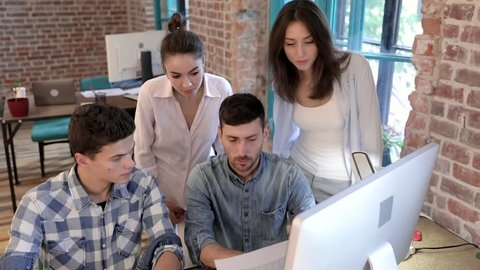 Start Up Team Meeting Discussing Stock Footage Video 100 Royalty Free 1014677744 Shutterstock