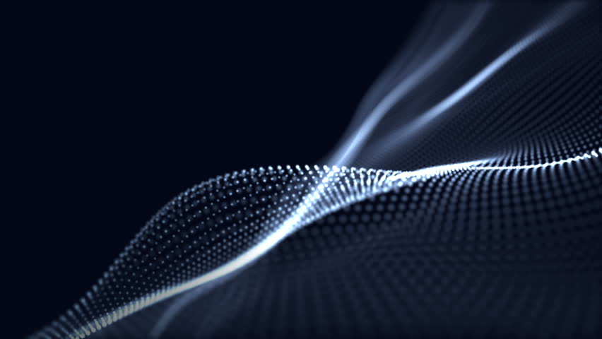 Digital wave background abstract title dark blue blurred animation of particle seamless. | Shutterstock HD Video #1014721304