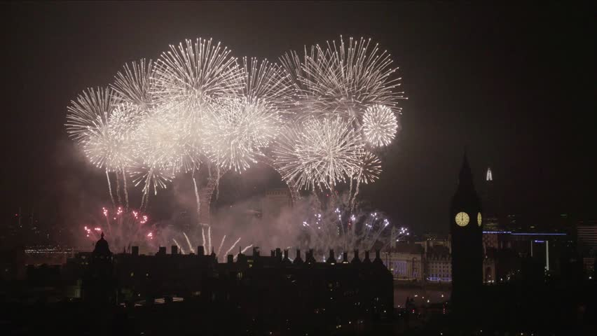 London, UK, January, 01, 2017 The Mayor of Londons' New year Fireworks Displaly