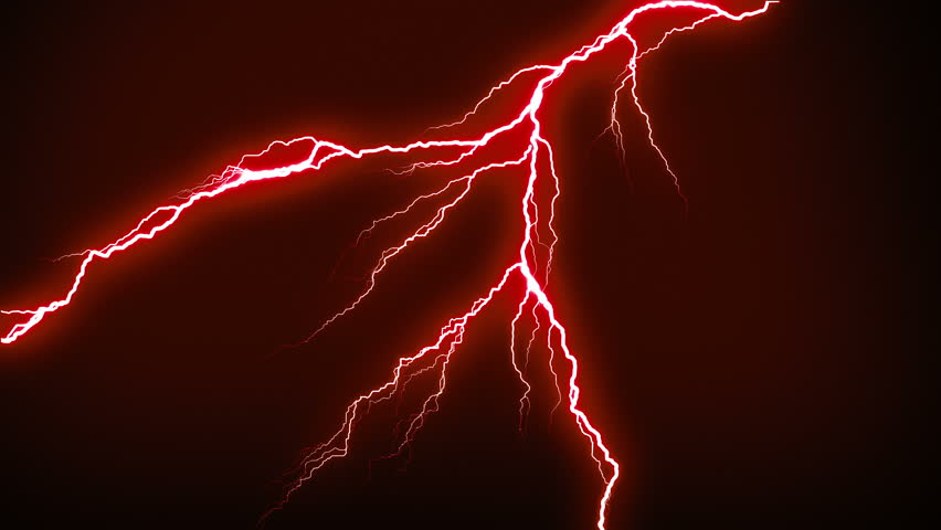Lightning strikes flashing in the night. Red. More options in my portfolio. | Shutterstock HD Video #10148270