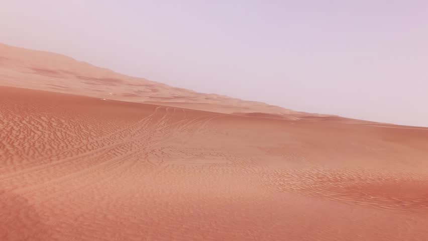 Traveling on an off-road car on the sand of the Rub al Khali desert stock footage video | Shutterstock HD Video #1014830869