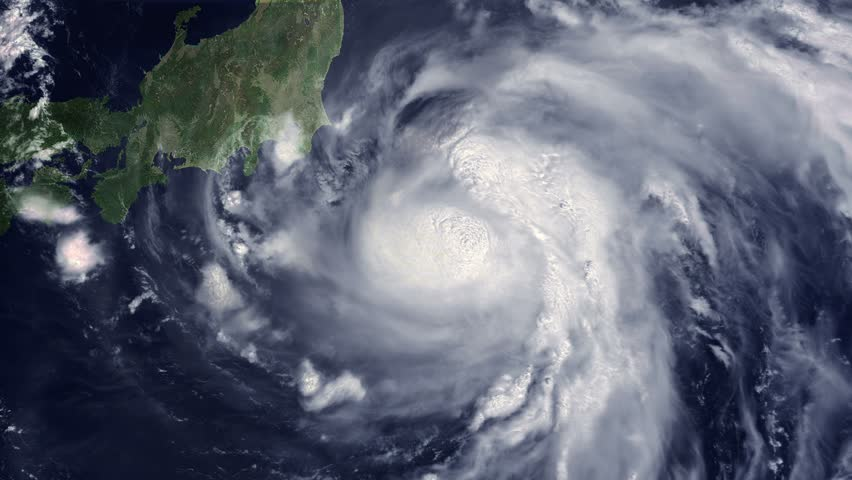 Typhoon Shanshan moves to Japan's Coast, cat 4, 90 mph, Aug. 8, 2018 - 4K Some of the video elements are public domain NOAA/NASA imagery: it is requested by NOAA/NASA that you credit when possible