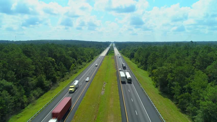 Highway I10 Interstate between Florida and Alabama