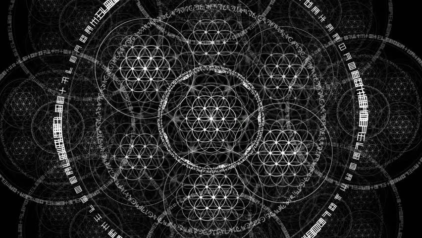 Animated seamless loop of based on Phi based geometry sacred ratio's and the golden mean