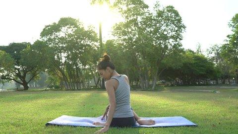Young Asian Woman Yoga Outdoors Video De Stock Totalmente Libre De Regalias 1013080853 Shutterstock Nosotros los guapos temporada 4 capitulo 23 ¡lucharán por la felicidad de los niños! young asian woman yoga outdoors video