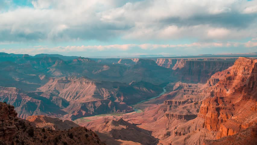 Grand canyon timelapse on sunset