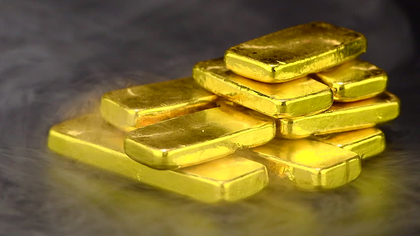 Close Up Pure Gold Bar Stock Footage