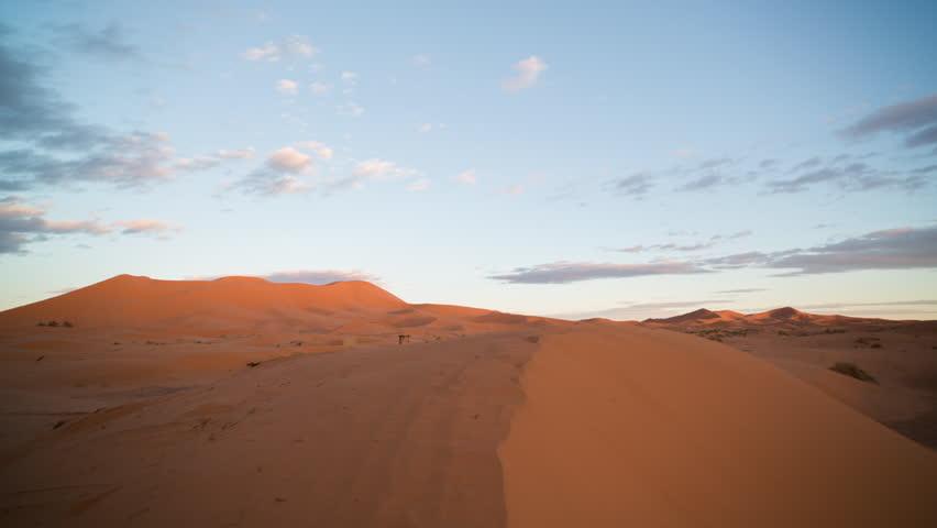 sunset timelapse of the amazing Erg chebbi dunes in the sahara desert, morocco #10149605