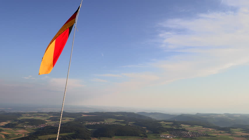 German nacionalfragge while ballooning | Shutterstock HD Video #1014963709