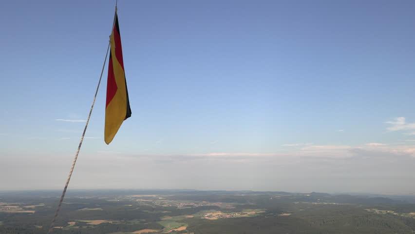 German nacionalfragge while ballooning | Shutterstock HD Video #1014963733