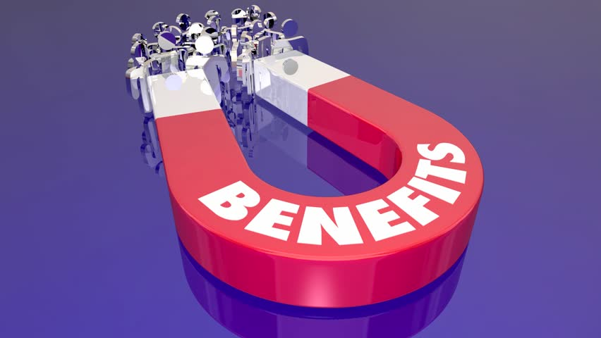 Benefits Perks Features Compensation Magnet Pulling People 3d Animation | Shutterstock HD Video #1014967861