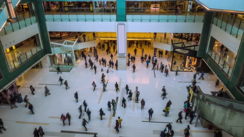 People crowd in Shopping Mall Timelapse | Shutterstock HD Video #1014996718