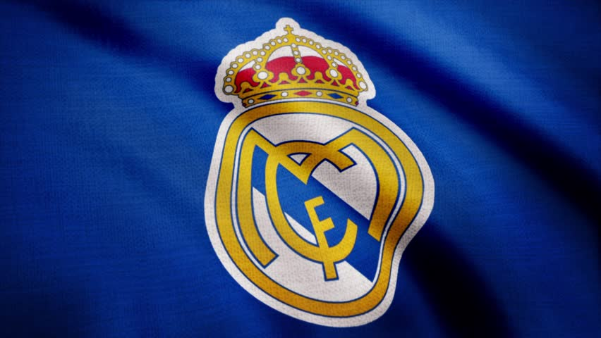 Fc Real Madrid Flag Is Stock Footage Video 100 Royalty Free 1015023244 Shutterstock