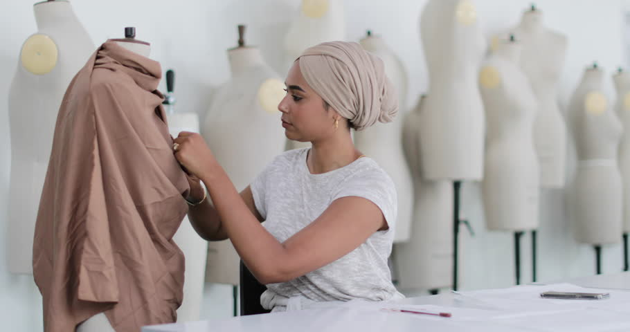 Muslim female student fashion designer
