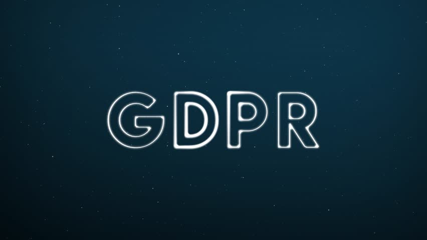 Abstract moving connection structure background with text GDPR