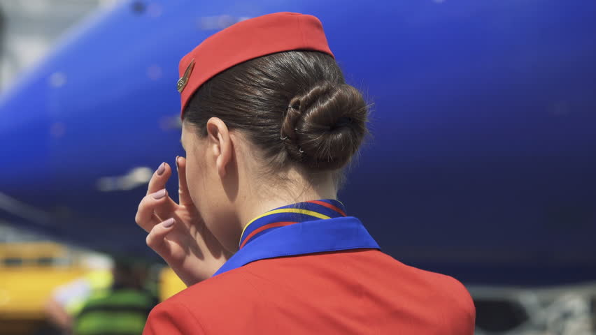Картинка стюардесса со спины
