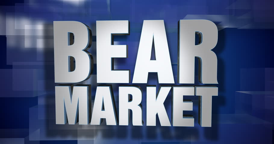 A blue dynamic 3D Bear Market transition and title page animation. 5 and 2 second options included with optional luma matte for both.  | Shutterstock HD Video #1015168585