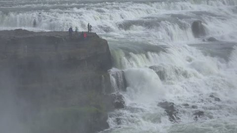 Gullfoss waterfall in Iceland located in the golden circle
