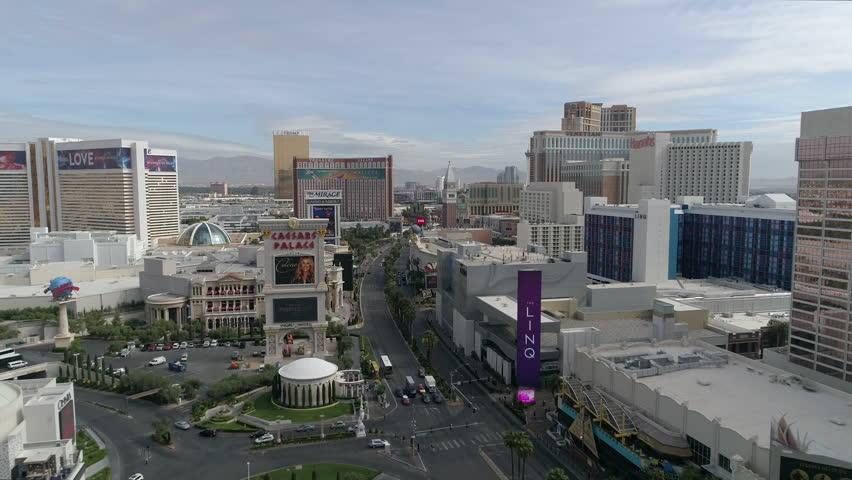 Las Vegas, United States - September, 2017: Aerial view of the Las Vegas strip