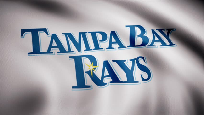 Flag of the Baseball Tampa Bay Rays, american professional baseball team logo, seamless loop. Editorial animation | Shutterstock HD Video #1015248169