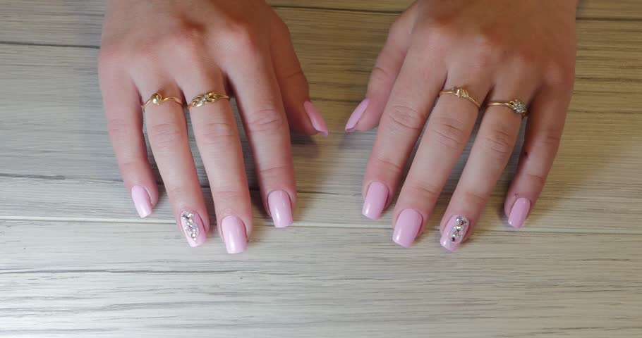 Closeup shot of manicured hands