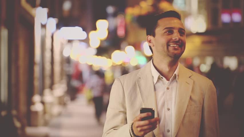 The man talking at night | Shutterstock HD Video #10152665