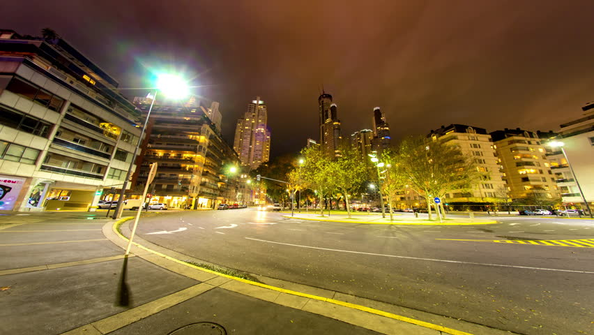 BUENOS AIRES, ARGENTINA – CIRCA JULY 2017: Time-lapse view of Puerto Madero at night circa July, 2017 in Buenos Aires, Argentina.  | Shutterstock HD Video #1015304995