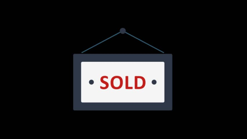 Sold icon animation with black png background. | Shutterstock HD Video #1015308160