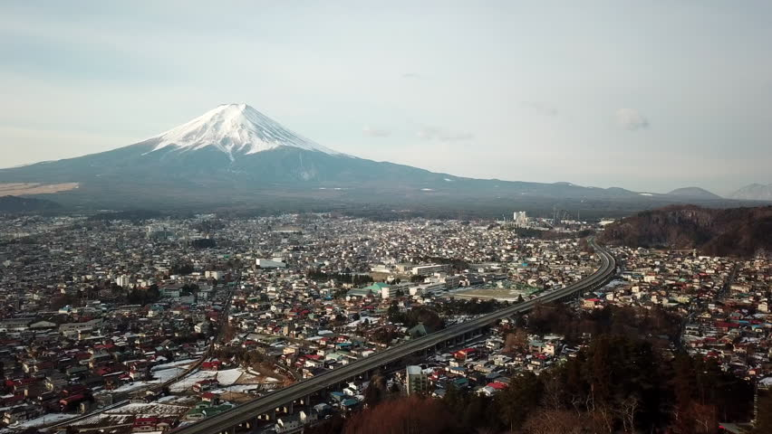 Fuji Mountain in Winter,Mt. Fuji,Japan | Shutterstock HD Video #1015328377