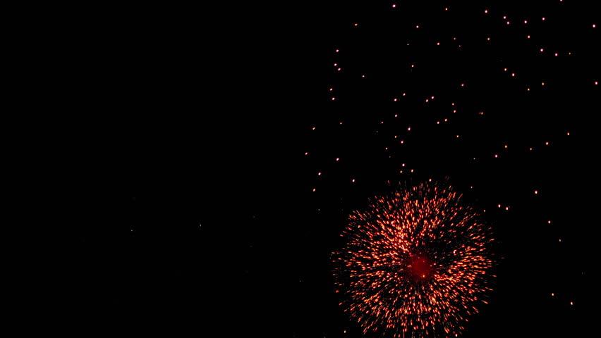Fireworks flashing in the night sky. | Shutterstock HD Video #1015336966