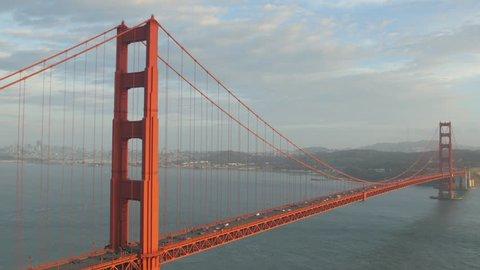 San Francisco, United States - October, 2016: Golden Gate Bridge seen from the Marin Headlands, San Francisco.