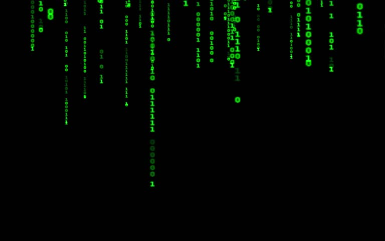 Digital binary data, streaming code background. Matrix background. Programming / Coding / Hacker concept. Cyberspace with green digital falling lines, abstract background, binary chain. Crypto space.   Shutterstock HD Video #1015388410