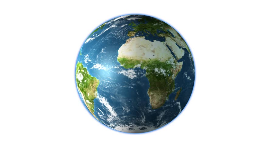 Planet earth in rich colors isolated on white background