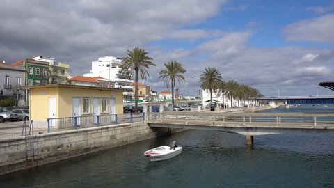 PORTIMAO, ALGARVE / PORTUGAL - FEBRUARY 14, 2018: Portimao is a popular tourist town in the Algarve Portugal with beach resorts and city centre