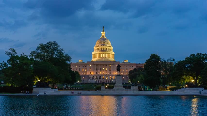 4k hyperlapse video of United States Capitol