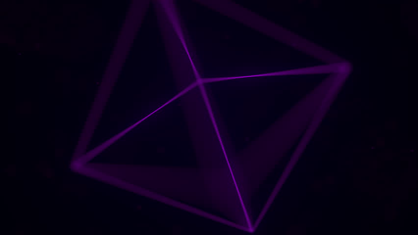 Magenta Platonic solid octahedron. Computer graphics related loopable motion background #1015483825