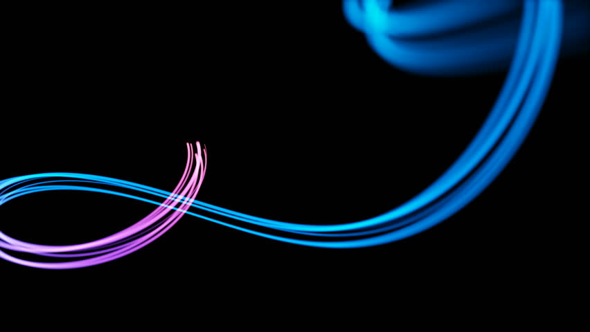 Light streaks, loop section 12:00-24:00. Abstract background animation of flowing red, blue, purple lines on black background. | Shutterstock HD Video #1015498741